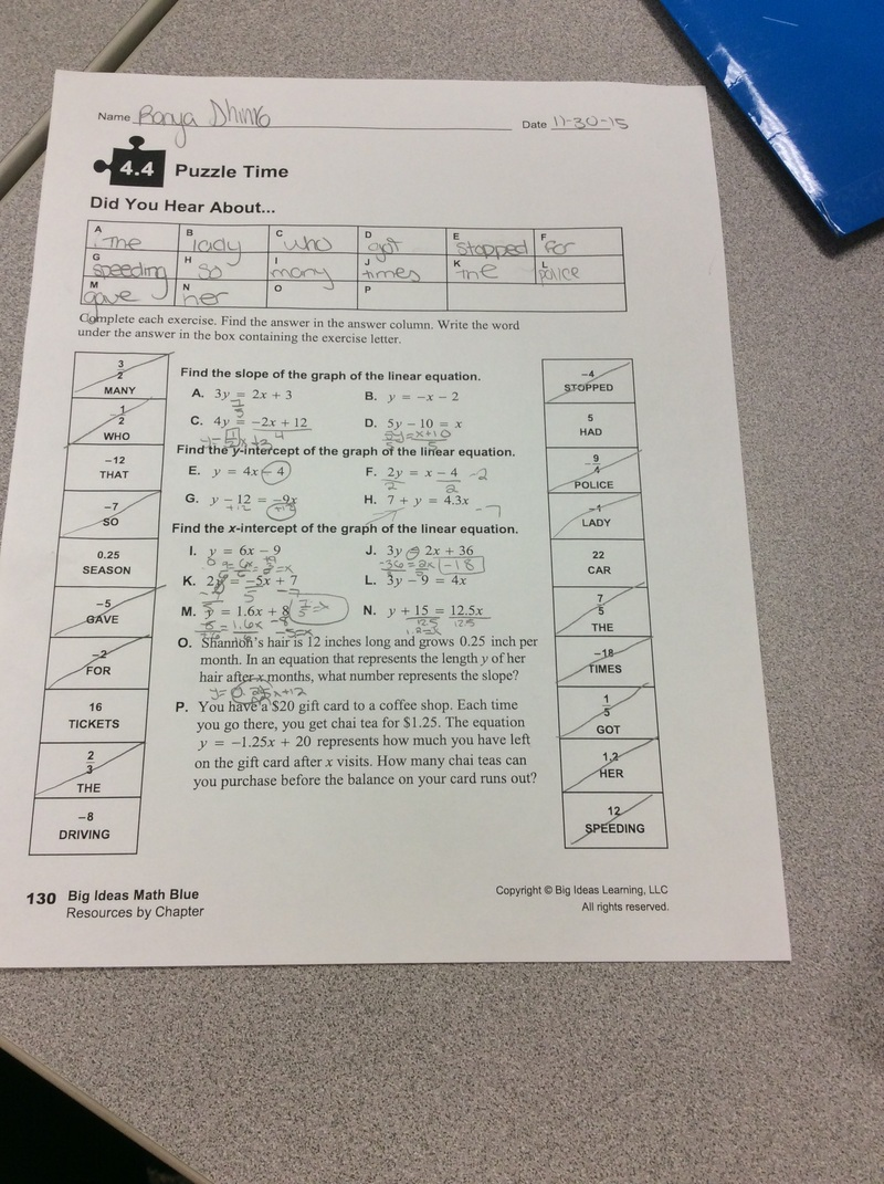 Printables Puzzle Time Math Worksheets did you hear about math worksheet answer support 8 even 3 years at baker middle school